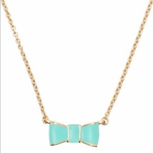 Kate Spade turquoise bow necklace